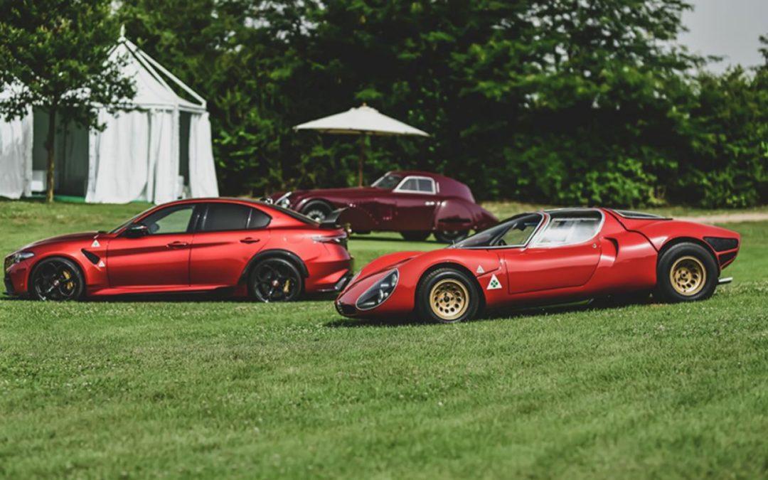 Alfa Romeo d'hier et d'aujourd'hui au Concours REB de Rome